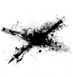 Cross grunge splat vector