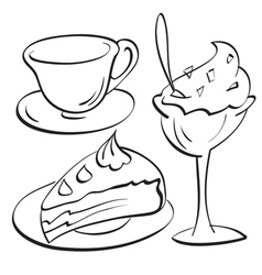Cup Cake sundae vector image