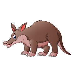 Cute tapir cartoon vector