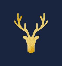 Deer antlers gold texture vector