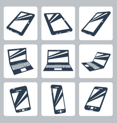 digital devices icons set vector image