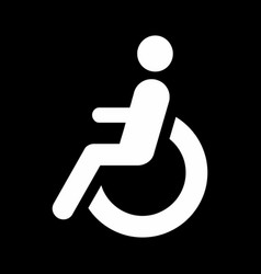 disabled wheelchair icon vector image