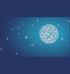 disco ball lltustration night party vector image