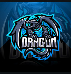 Dragon esport mascot logo vector