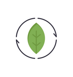 Energy green source power flat color icon icon vector
