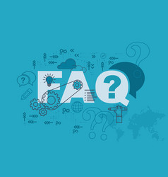 Faq website banner design concept vector
