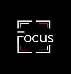 Focus frame photograph creative modern logo vector
