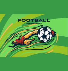 footballer kicks ball vector image