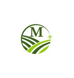 Garden farm organic ecology initial m vector