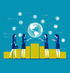global financial concept business finance vector image