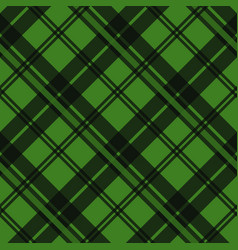 Green tartan fabric texture in a square pattern vector