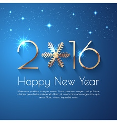 Happy New Year 2016 text design vector