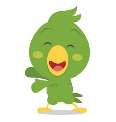 Happy parrot cartoon art vector