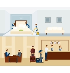 Hotel Staff Banner vector