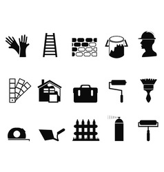 house painting icons set vector image
