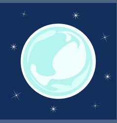 ice ball snowflake vector image