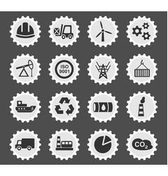 Industry icon set vector