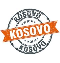 Kosovo red round grunge vintage ribbon stamp vector