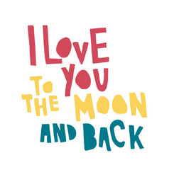 Love moon back color vector
