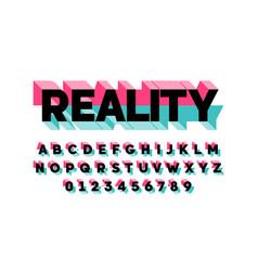 Modern bold 3d font design alphabet letters vector