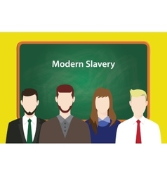 Modern slavery concept with business vector