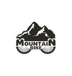 mountain bike logo abstract mountain bike logo vector image
