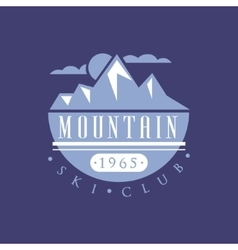 Mountain Ski Club Emblem Design vector