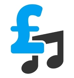 Music Pound Price Flat Icon Symbol vector image