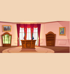 Oval cabinet interior president us workplace vector