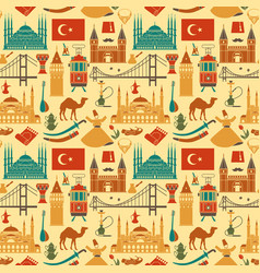 pattern of country turkey culture and traditional vector image
