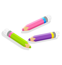 Pencil or drawing tool school stationery supply vector