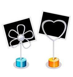 Photo Holder with two Photos vector