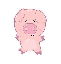 pig in cartoon style vector image