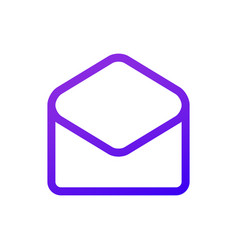 Purple message icon in the circle thin line vector