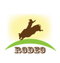 Rodeo show bull riding symbol vector