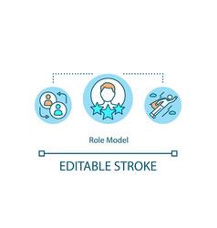 Role model concept icon vector
