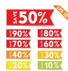 Sale percent sticker price tag - - eps10 vector