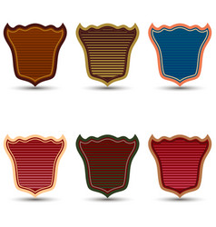 set of colored shields vector image