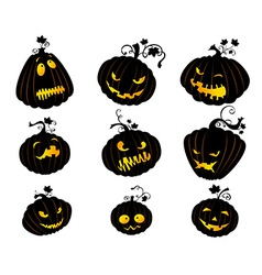 Set of Jack-O-Lanterns vector