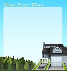 Single house and yard vector