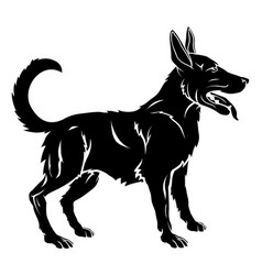 Stylised dog vector