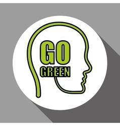 Think green editable icon vector