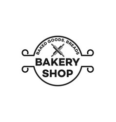 vintage bakery shop logo inspiration isolated on vector image