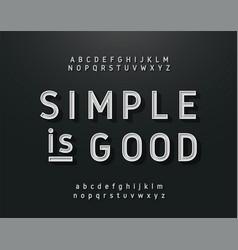 vintage sans serif alphabet retro typography font vector image