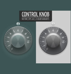 volume control knobs ui element for vector image
