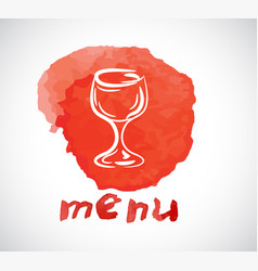 watercolor style menu design on white background vector image