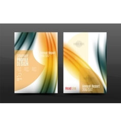 Wave pattern annual report business cover design vector image