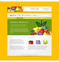 Website design template fruits style vector image