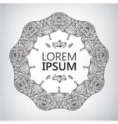 Abstract Yoga Meditation Logo Graphic in Boho vector image