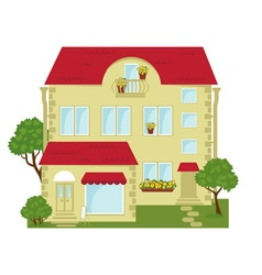 city building with a shop on the ground floor vector image vector image